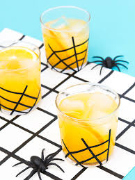 halloween drinks clipart vanilla spiced gin and orange juice cocktail with diy spider