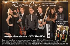 colorado wedding band raising cain and the adagio strings wedding