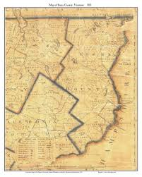 Vermont County Map Vermont County Prints From The 1821 Whitelaw State Map