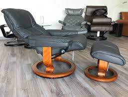 mayfair rock leather recliner chair and ottoman by ekornes
