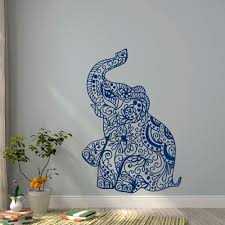 Ocean Wall Decals For Nursery by Elephant Wall Decal Stickers Elephant Yoga Wall Decals Indie