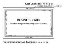 Business Card With Bleed Business Card Size Business Card Tutorials The Business Card