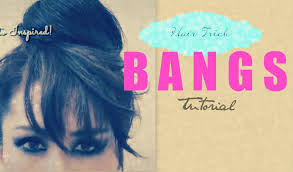 hair tutorial how to fake bangs with bun top knot hairstyles