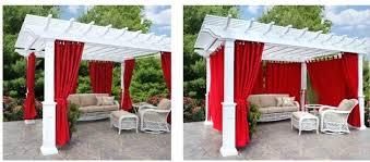 Pergola With Curtains Outdoor Pergola Curtains Guide