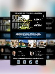 Free Real Estate Website Template by 5 Free Psd Flyer Poster Templates