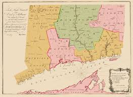 New London Ct Map Old State Map Connecticut Colony 1766