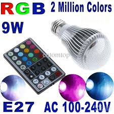 best colorful 9w e27 rgb led light bulb lamp with remote control