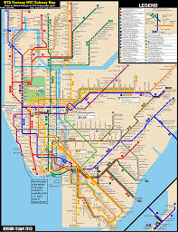 Chicago City Train Map by New York Subway Map New York City Subway Fantasy Map Revision
