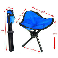 portable outdoor folding tripod chair