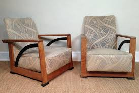 Art Deco Armchairs A Stylish Pair Of English Art Deco Oak Armchairs C 1930 244751