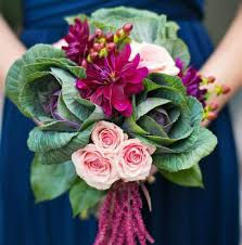 flowering purple kale wedding bouquets u0026 centerpieces mon cheri