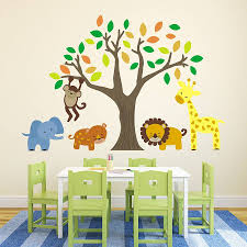 forest animals kids wall decals forest theme nursery or kids room jungle animals wall decals jungle safari animals huge set wall decals animals