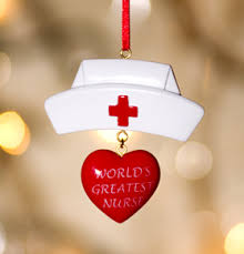 Nurse Christmas Ornament - seeking registered nurse for our heals university place elementary