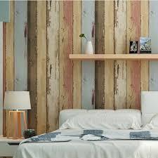 birwall vintage weathered wood panel wood plank wallpaper wall birwall vintage weathered wood panel wood plank wallpaper wall mural for living room kitchen blue tan red rust amazon com