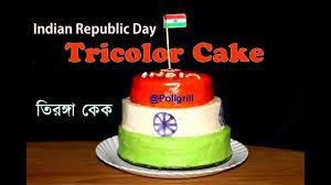 Indian Flag Cake Indian Republic Cake Tricolor Cake Recipe ভ রত য