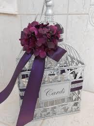 made to order small silver wedding birdcage card box