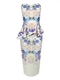 norman dresses floral asymmetric peplum dress norman