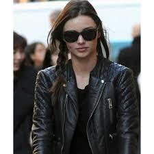 leather biker jacket miranda kerr leather jacket balenciaga quilted biker jacket