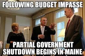 Shutdown Meme - partial government shutdown begins in maine memenews
