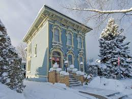 steampunktendencies snowy victorian houses victorian house