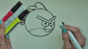 how to draw red angry birds in pencil artist rage youtube