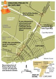 Garden State Parkway Map Merchants Fear Cape May Construction Hurting Business Traffic