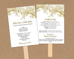 wedding fan programs templates comfortable diy wedding programs templates ideas resume ideas