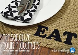 sewing tutorial make a personalized burlap placemat