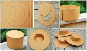 como hacer un sombrero de carton protegiéndonos del sol en verano con nuestro sombrero o visera de