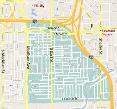 Map Of Downtown Indianapolis Bates Hendricks Neighborhood U2022 About