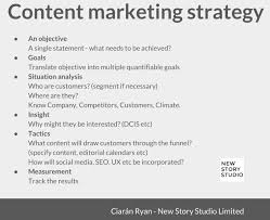 content strategy marketing plan template new story studio limited