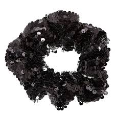 hair scrunchie black sequin hair scrunchie s