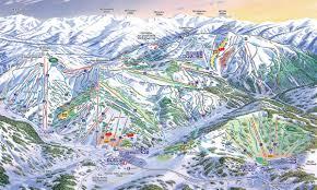 Montana Ski Resorts Map by Perisher Blue Ski Resort Map