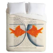 Fish Duvet Cover Orange Rust Duvet Cover Target