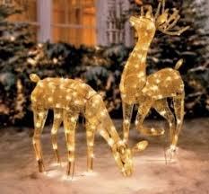 lighted reindeer yard decorations decor