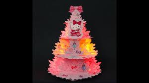 hello kitty sparkling pink christmas tree with illuminated lights
