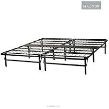 amazon com structures by malouf highrise folding metal bed frame