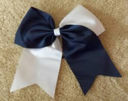 white and blue bows blue and white bow etsy