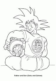 father son dragon ball gohan goku coloring pages