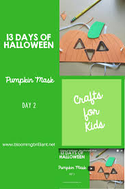crafts for kids halloween pumpkin mask craft blooming brilliant