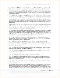 6 sample partnership agreement outline templates