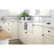 white kitchen cabinet knobs home depot liberty rustic farmhouse 1 1 4 in 32mm matte black