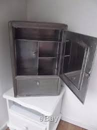 industrial metal bathroom cabinet vintage french industrial retro metal mirrored medicine bathroom