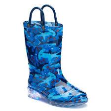 light up rain boots western chief shark chase boys light up waterproof rain