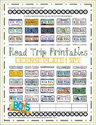 road trip printables for kids license plate i spy u2013 3 boys and a dog
