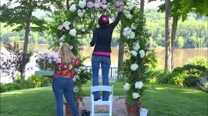 Wedding Arch Greenery Designing A Wedding Arch With Flowers Youtube