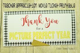 movie ticket printable for teacher