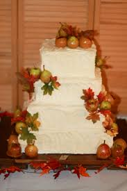 rustic country fall wedding cake apple spice cake caramel