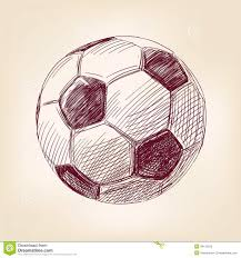 drawn football realistic pencil and in color drawn football