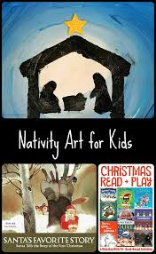 nativity christmas art for kids christmas art scene and craft